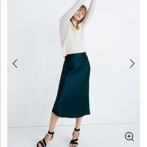 Satin Midi Slip Skirt